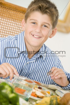 Boy At Christmas Dinner