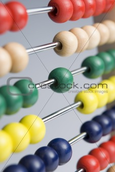 Abacus With Multi-Colored Beads