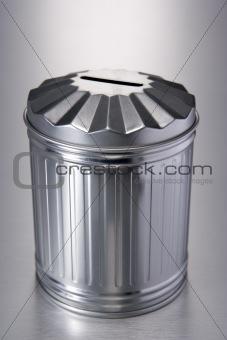 Tin Trash Can