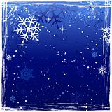 Blue grunge winter background