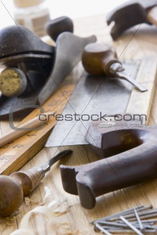 Assortment Of Old-Fashioned Tools