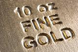 Close-Up Of Gold Bar