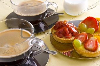 Fresh coffee and cake