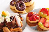 Fresh pastry selection