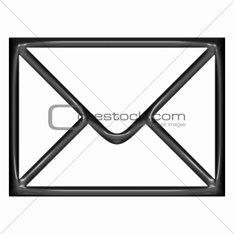 3d Black Balloon Mail