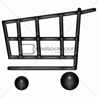 3d Black Baloon Shopping Cart