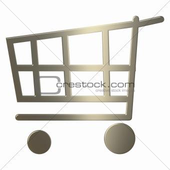 3d Gold Shoppinh Cart