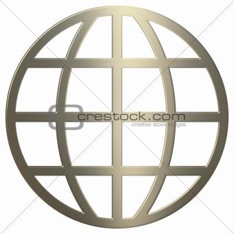 3d Gold WWW Symbol