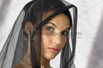 portrait with veil