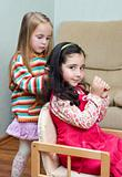 two little girls playing