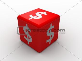 3d dice dollar