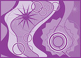 Various Purple Tone Pattern Design