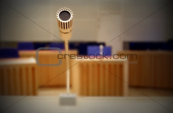 Cloce up of a microphone