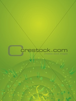 background green radiate