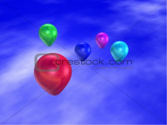 5 Floating Balloons