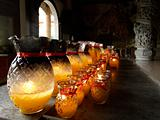 Lamps at Buddhist temple