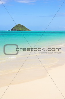 Tropical beach (Lanikia Beach, Hawaii)