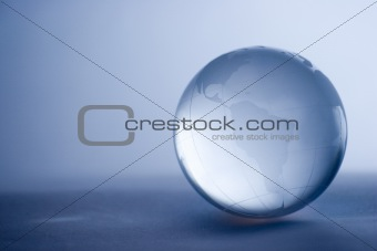 Crystal glass globe