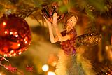 Christmas fairy in the tree