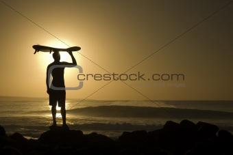 Longboard at sunset 4