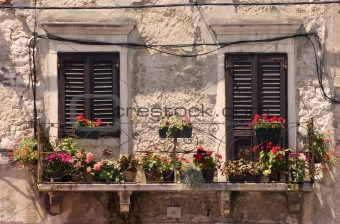 Old windows in Croatia