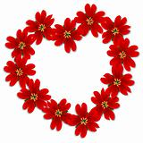 Valentines flowers frame