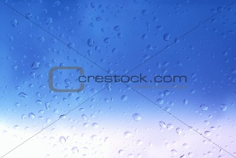 bright blue droplets