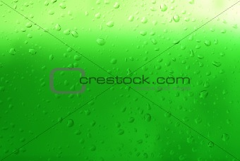green droplets close-up