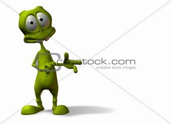 alien pointing