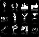 Victory and Success Icon Set Series Design Elements