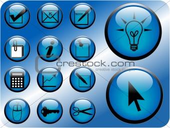 Business icon vectors