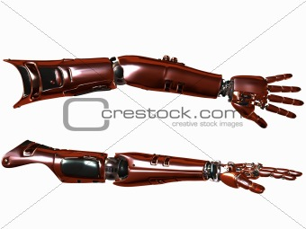 Cyber Arm-Red Metal