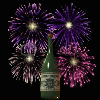 Firework and Champagne