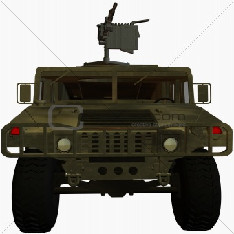 3D render of military vehicle