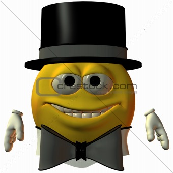 Smiley-Hat and Tie