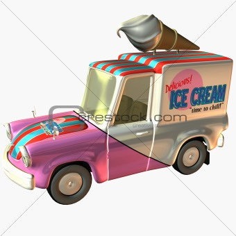 Toon Car Delivery Ice Cream