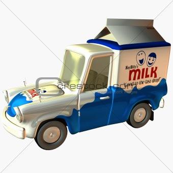 Toon Delivery Milk