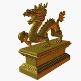 Asian Dragon Statue