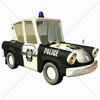 Toon Car Police
