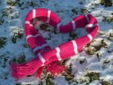 &quot;Messages&quot;: Snowy Scarf in a Valentine Heart Shape