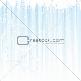 Grunge winter background in light blue
