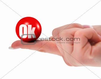 OK sign on finger