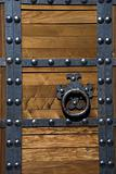 Heavy Asian Style Door with Metal Rivets