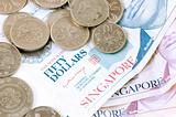 Singapore dollar notes and coins