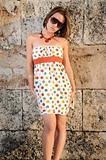 Stylish summer fashion girl