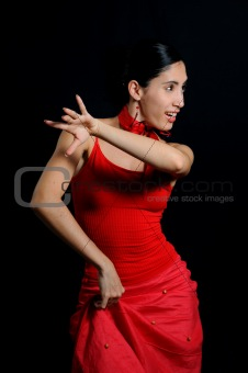 Flamenco dancer isoated