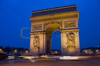 Arc De Triomphe Night