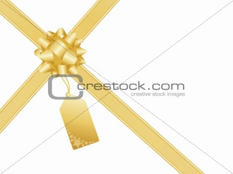 Christmas bow and gift card