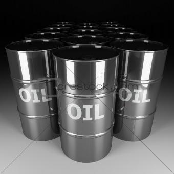 chrome oil barrel