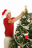 Decorating Christmas Tree - Placing Angel